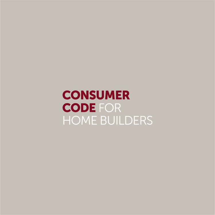 Consumer code for home builders logo extended